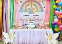 4 fotos de decoracion de cumpleaños de unicornio para inspirarte