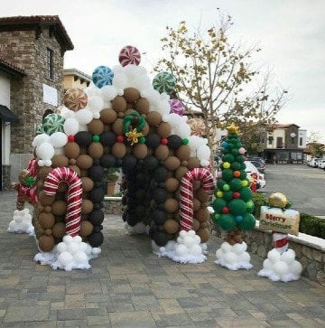original decoracion navideña con globos