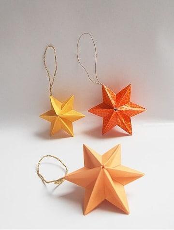 adornos navideños de papel faciles