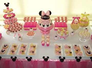 decoracion de minnie bebe sencilla