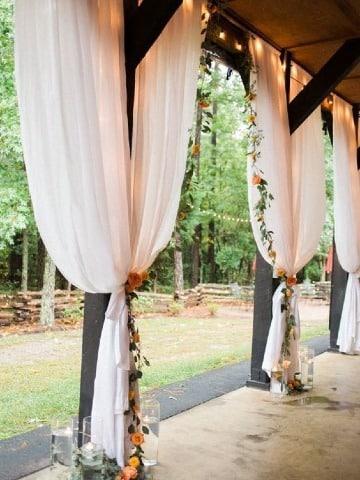 decoracion en telas para matrimonio civil