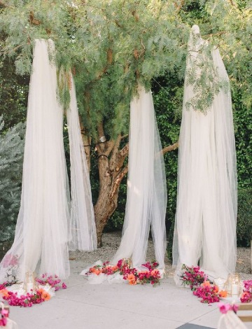 decoracion en telas para matrimonio en el jardin