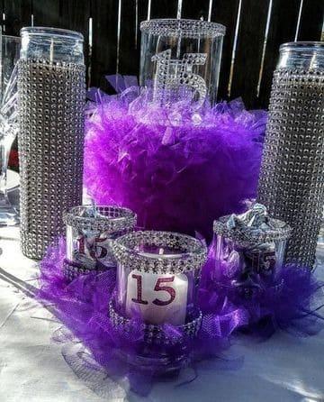 ideas para decoracion de velas para xv años