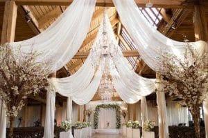 4 tipos de decoracion en telas para matrimonio