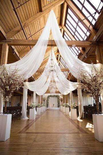 imagenes de decoracion en telas para matrimonio