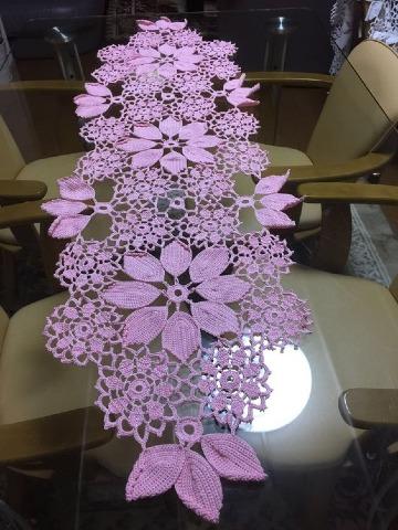 caminos de mesa tejidos a crochet faciles de hacer