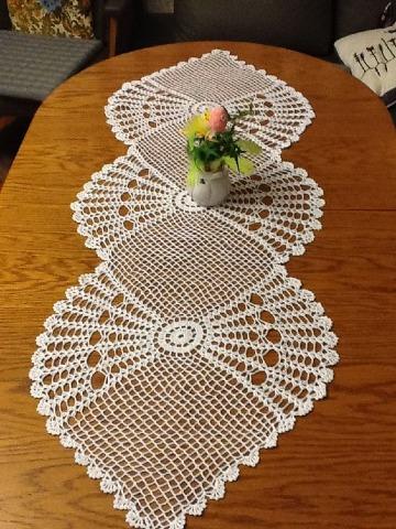 caminos de mesa tejidos a crochet paso a paso