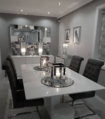 centros de mesa de comedor elegante
