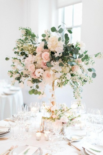 centro de mesa para matrimonio con flores