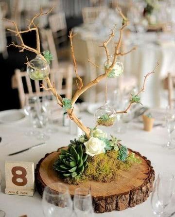 centros de mesa para matrimonio rustico