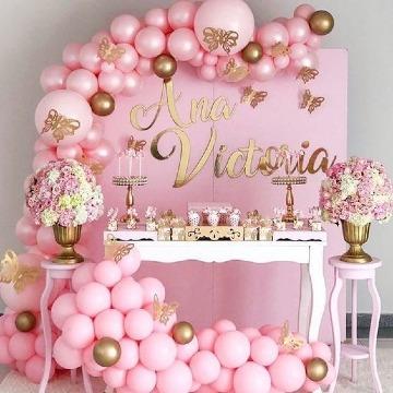 decoracion de fiestas para niñas con globos