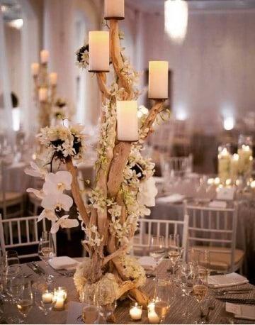 decoracion de mesa para matrimonio con velas
