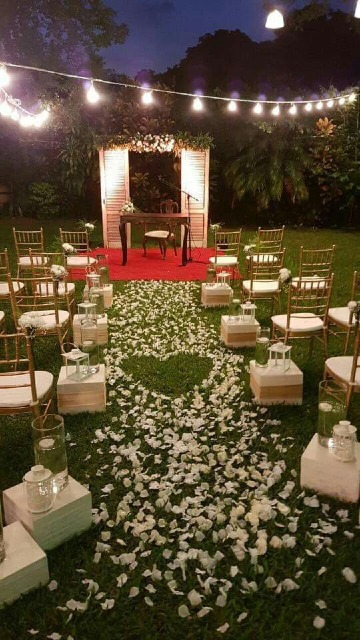 decoracion matrimonio civil en casa de jardin