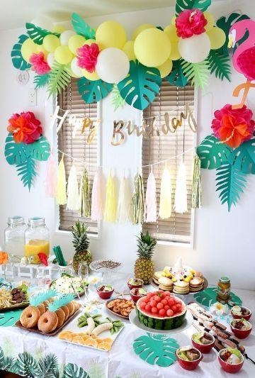 decoracion sencilla para cumpleaños saludables