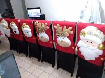 forros de sillas navideños paso a paso