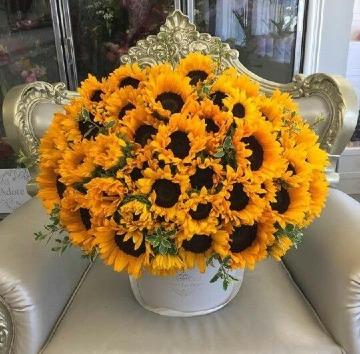 hermosos arreglos florales con girasoles