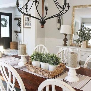 imagenes de centros de mesa de comedor