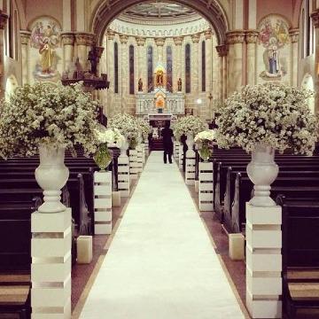 imagenes de decoracion de iglesia para boda