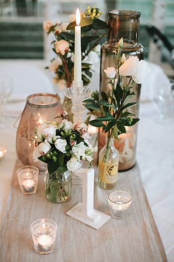 modelos de decoracion de mesa para matrimonio