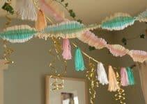 4 estilos de decoracion con papel crepe y globos
