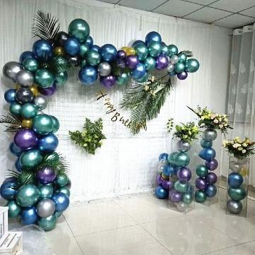 decoracion con globos metalicos grandes