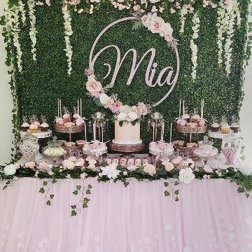 decoracion de mesa de baby shower niña