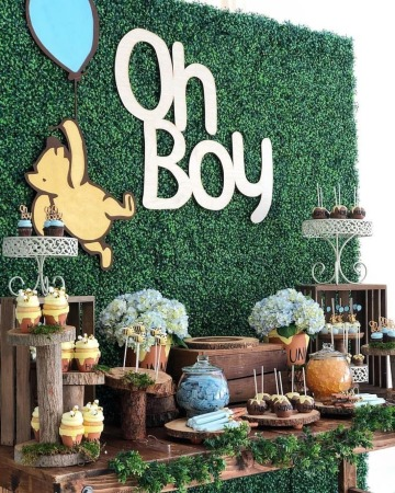 facil decoracion de mesa de baby shower