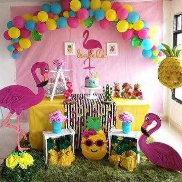 fiesta tematica tropical para niña 1