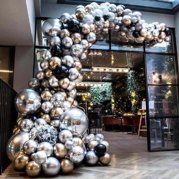 imagenes de decoracion con globos metalicos