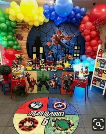 imagenes de decoracion de avengers para cumpleaños