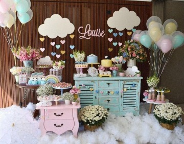 imagenes de decoracion de mesa de baby shower