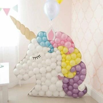 modelos de decoracion de unicornio con globo