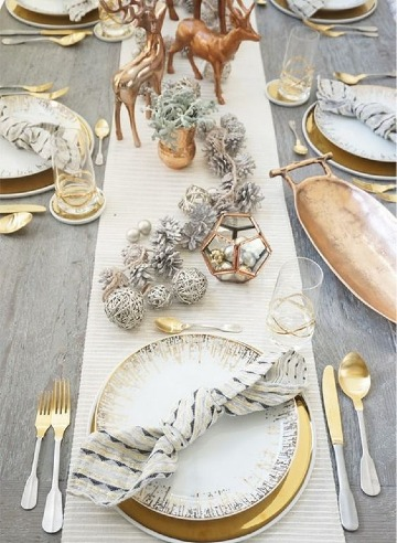 arreglos de mesa para año nuevo sencillos