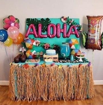 decoracion de fiesta hawaiana para niños