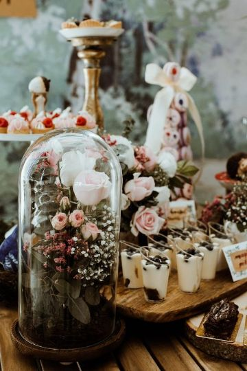 decoracion rustica para cumpleaños de mujer