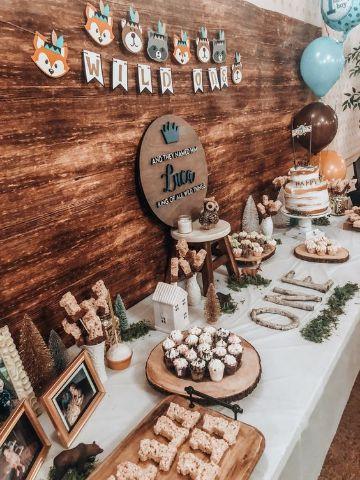 decoracion rustica para cumpleaños de niños