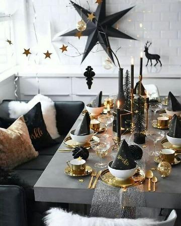 elegantes arreglos de mesa para año nuevo