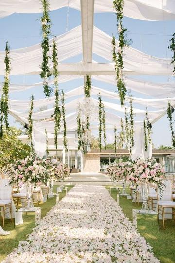 elegantes bodas romanticas al aire libre