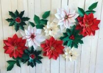 4 ideas para hacer flores de navidad en papel