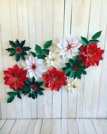 flores de navidad en papel paso a paso
