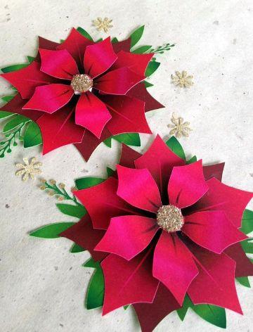 flores de navidad en papel de seda