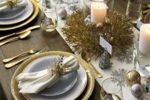 4 hermosos arreglos de mesa para año nuevo