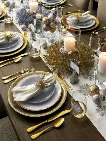 ideas de arreglos de mesa para año nuevo