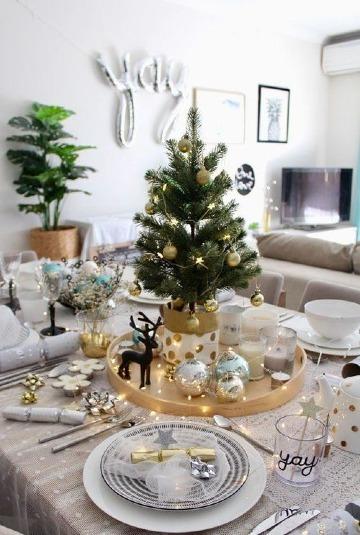 imagenes de arreglos de mesa para año nuevo