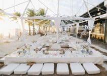 4 decoraciones auténticas para fiesta de blanco en la playa