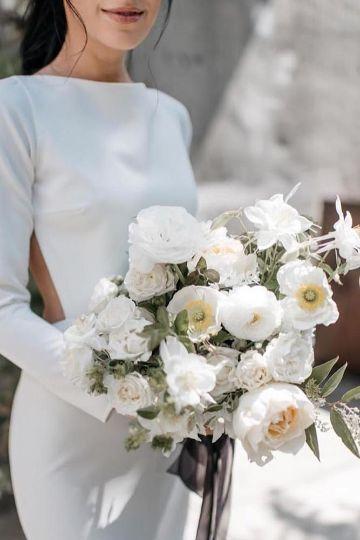 ramos de novias flores blancas grandes