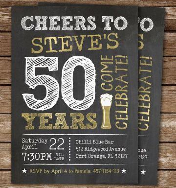 tarjetas de invitacion 50 años para hombre