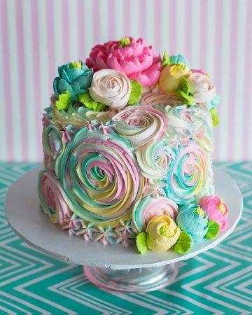 tortas de flores para cumpleaños de niña