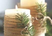4 adornos de mesa con velas sencillos y hermosos