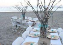 4 adornos para boda en la playa sencillos y elegantes